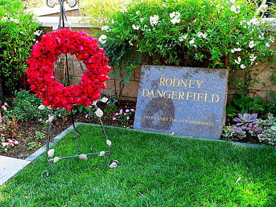 Photograph - Rodney Dangerfield Grave by Jeff Lowe
