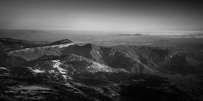 Photograph - Rodriguez Mountain At Dusk by Alexander Kunz