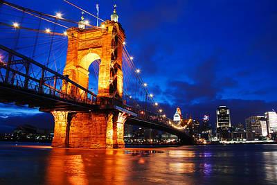 Roebling Bridge Cincinnati Art Print