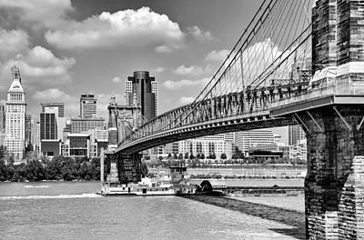 Roebling Bridge Art Print
