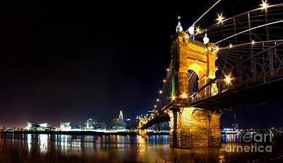 Roebling Bridge Photograph - Roebling Bridge In Cincinnati by Twenty Two North Photography