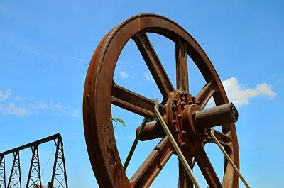 Photograph - Roebling Factory Craneway And Flywheel by Steven Richman