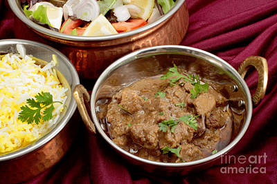 Photograph - Rogan Josh Curry Bowls by Paul Cowan