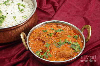 Photograph - Rogan Josh In Kadai Bowl by Paul Cowan