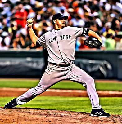Rogers Painting - Roger Clemens Painting by Florian Rodarte