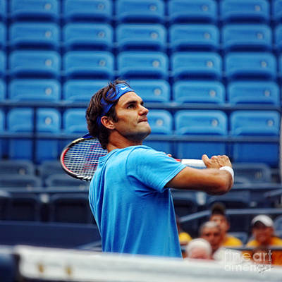 Us Open Photograph - Roger Federer  by Nishanth Gopinathan