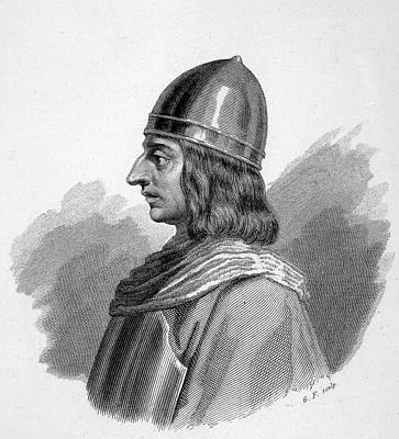 Roger I, (ruggiero) Guiscard  Norman Art Print by Mary Evans Picture Library
