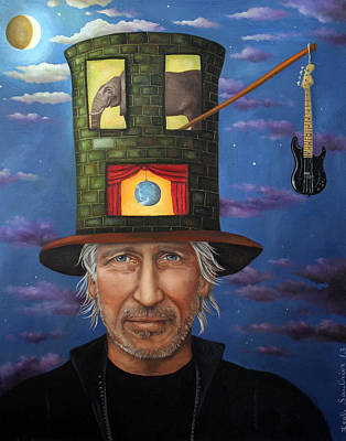 Roger Waters Original by Leah Saulnier The Painting Maniac