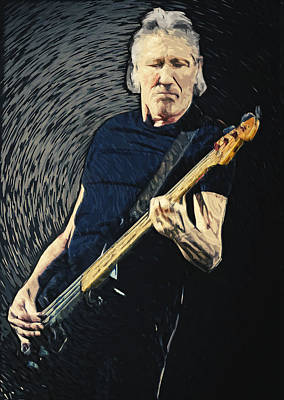 Digital Art - Roger Waters by Taylan Apukovska