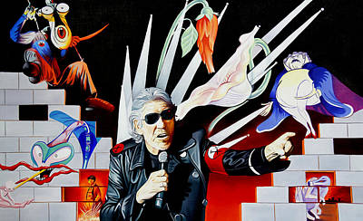 Painting - Roger Waters-the Wall by Joshua Morton