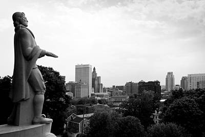 Photograph - Roger Williams Statue by Michael Dorn