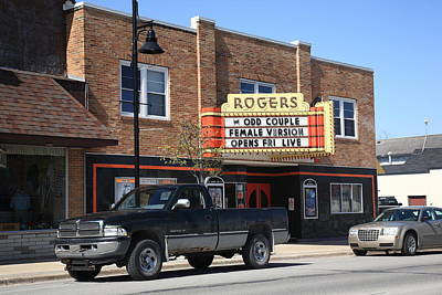Photograph - Rogers City Michigan - Theater And Pickup by Frank Romeo
