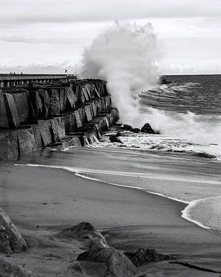 Waterscape Photograph - Rogue Bullet Wave Cabrillo Beach By Denise Dube by Denise Dube