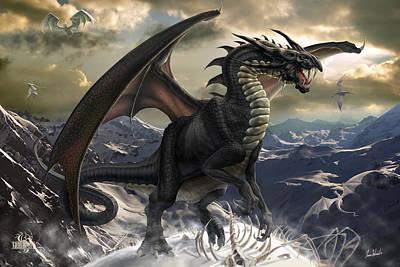 Black Top Digital Art - Rogue Dragon by Tom Wood
