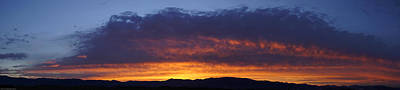 Rogue Valley Sunset Panoramic Art Print