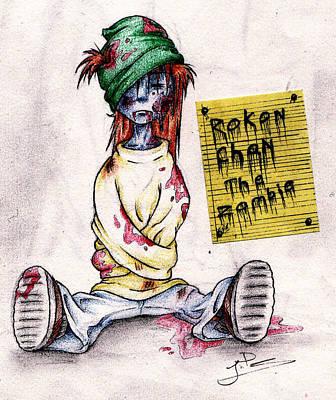 Rokon Chan The Zombie Art Print