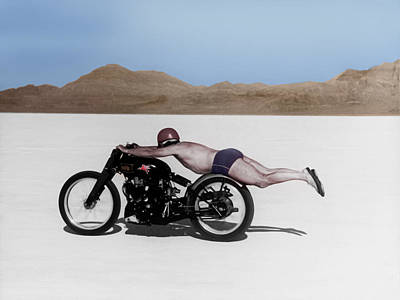 Bonneville Photograph - Roland Rollie Free by Mark Rogan