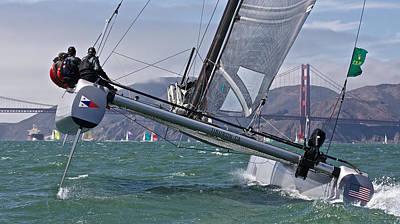 Photograph - Rolex Big Boats by Steven Lapkin