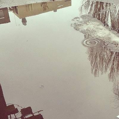#rolfhofmosgata  #oslo  #rain #drops Art Print