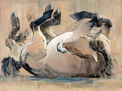 Wild Horse Painting - Roll by Mark Adlington