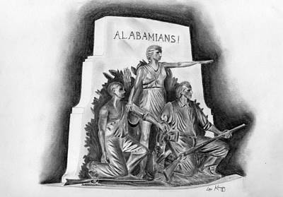 Roll Tide Alabama Monument At Gettysburg Original by Lou Knapp