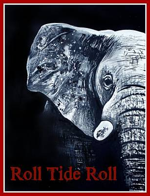 Roll Tide Roll Art Print by Lindsay Pace