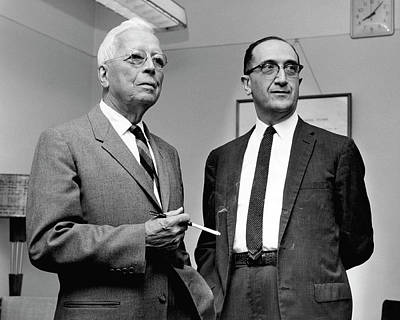 Dyer Photograph - Rolla Dyer And Salvador Luria by National Library Of Medicine