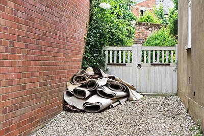 Rolled Yard Photograph - Rolled Carpets by Tom Gowanlock