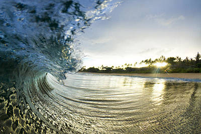 Ocean Photograph - Rolled Gold by Sean Davey