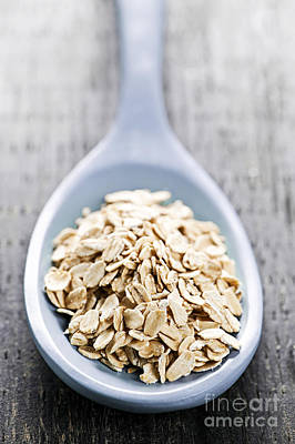 Oatmeal Photograph - Rolled Oats by Elena Elisseeva