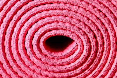 Spiral Photograph - Rolled Pink Mat by Tom Gowanlock