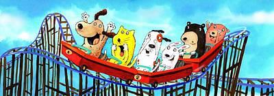 Roller Coaster Fun Art Print by Scott Nelson