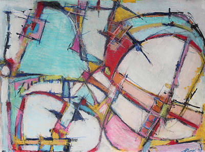 Hari E. Thomas Abstract Painting - Roller Coaster Of Reincarnation by Hari Thomas
