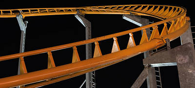 Photograph - Roller Coaster Track by Bob Noble Photography