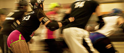 Photograph - Roller Derby by Theresa Tahara