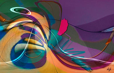 Digital Art - Roller Painting No. 1 by Dolores Kaufman