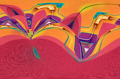 Digital Art - Roller Painting Series / No. 12 by Dolores Kaufman
