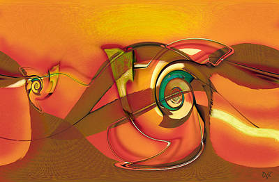 Digital Art - Roller Painting Series / No.6 by Dolores Kaufman