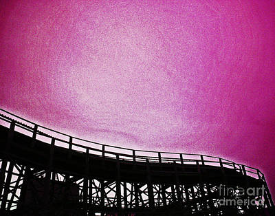 Rollercoaster Photograph - Rollercoaster In Pink by Andy Prendy