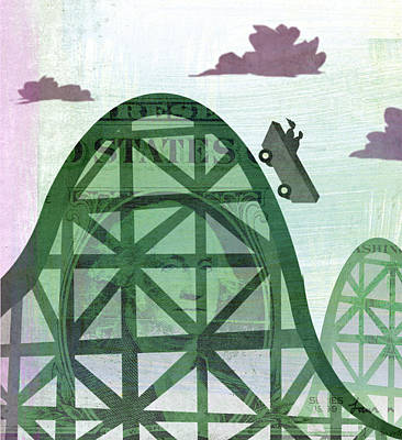 Rollercoaster Digital Art - Rollercoaster by Steve Dininno