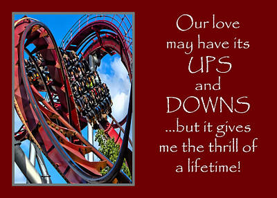 Photograph - Rollercoaster Valentine by Julia Springer