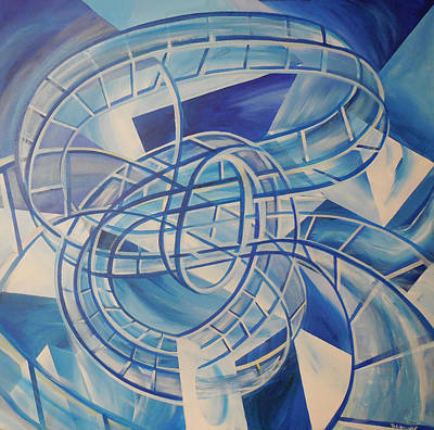Rollercoaster Painting - Rollercoaster Water by Toblerusse