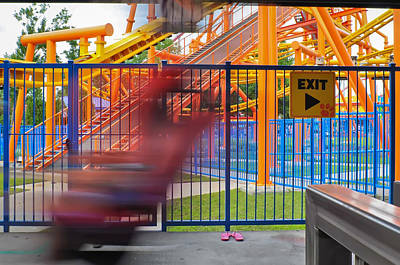 Science Collection Rights Managed Images - Rollercoasters At Amusement Park Royalty-Free Image by Alex Grichenko