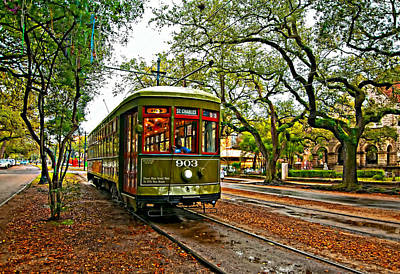 St Charles Digital Art - Rollin' Thru New Orleans Painted by Steve Harrington
