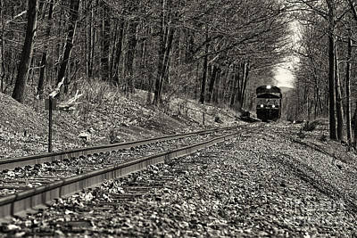Photograph - Rolling Down The Tracks by Brad Marzolf Photography