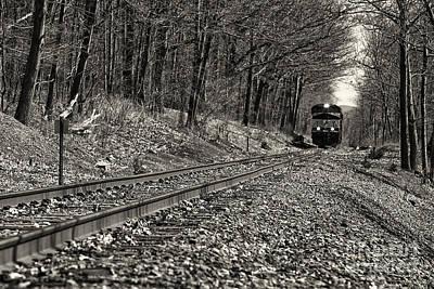 Rolling Down The Tracks Art Print