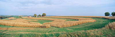 Rolling Farm Fields, North Of Dubuque Print by Panoramic Images
