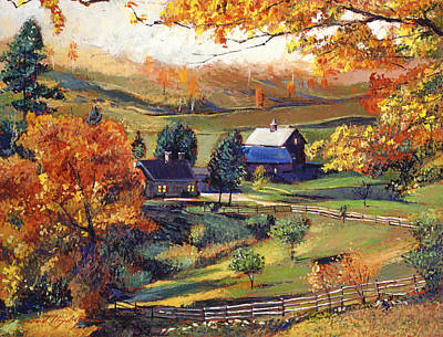 Americana Painting - Rolling Fog Approaching by David Lloyd Glover