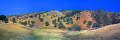 Rolling Hills In The Summer Art Print by Wernher Krutein