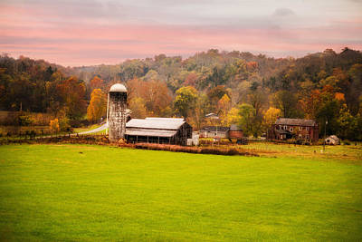 Rolled Yard Photograph - Rolling Hills Kentucky Farm by Mary Timman